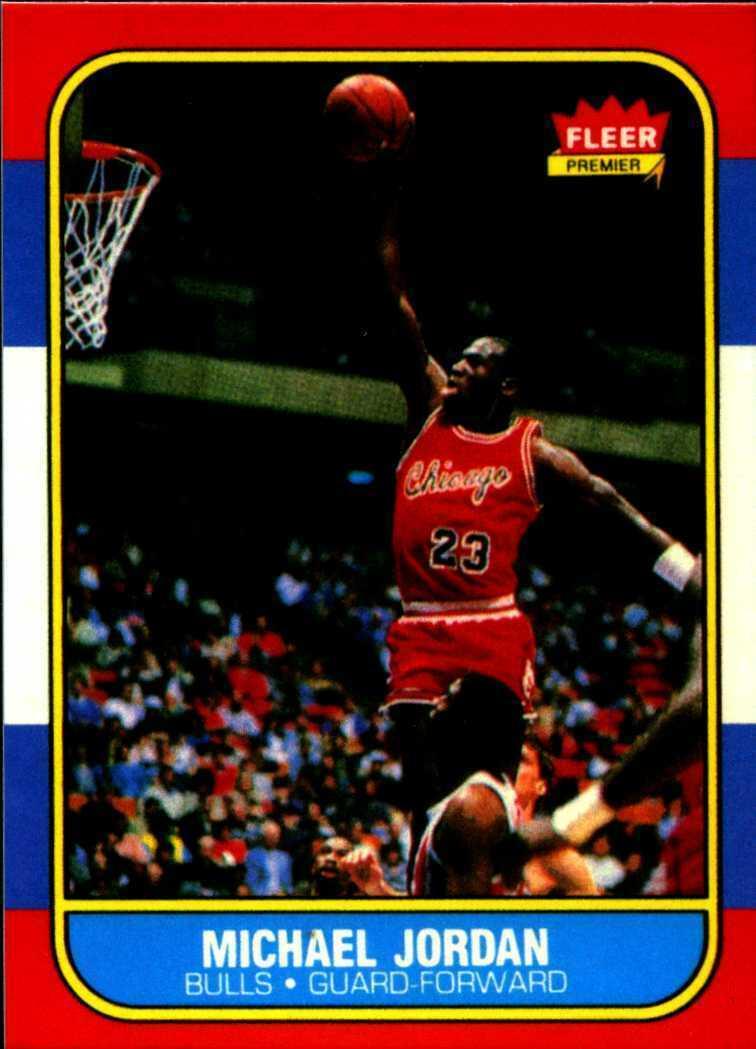 5 Michael Jordan 1986-87 Fleer #57 Glossy Rookie Reprint Cards Chicago Bulls