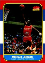 5 Michael Jordan 1986-87 Fleer #57 Glossy Rookie Reprint Cards Chicago B... - $5.94