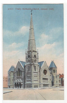 Trinity Methodist Church Denver Colorado 1915 postcard - $5.94