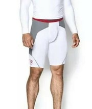 Under Armour ArmourVent Baseball Slider Shorts White Red Mens Size Small NEW - $24.50