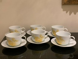 Dansk Fine China Freesia Pattern Portugal Cups and Saucers - $149.00