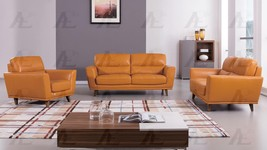 American Eagle EK082-ORG Orange Sofa Loveseat and Chair Set Italian Leat... - $2,773.00