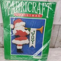 "Santa's Trumpet Wall Hanging Felt Kit 19"" Christmas Joy WG0452 Bernat Ne... - $14.03"