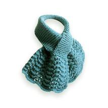 Hand Knit Neck Warmer, Blue - $36.00