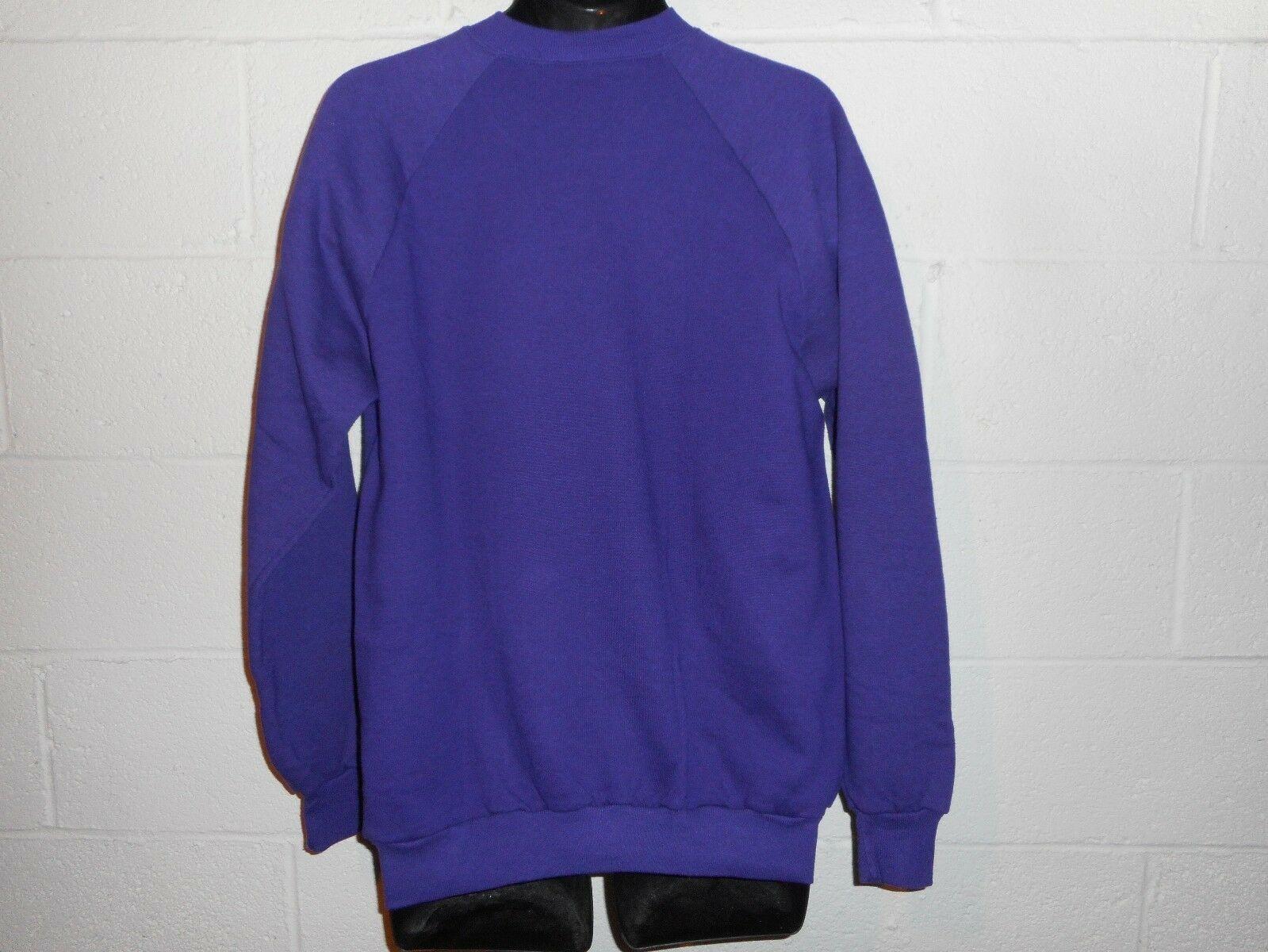 Vintage Topsy Turvy 80s Girl Purple Gold Sweatshirt XL