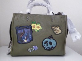 New Coach X-Disneys Dark Fairy Tales Snow White Rogue 25 Army Green Handbag - $394.02