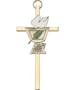 Confirmation Chalice Wall Cross - Gold on Gold - $32.99