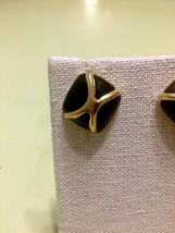 Monet Black And Gold Post Earrings - $17.86