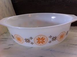Vintage Pyrex Town & Country Brown/Orange Casserole Dish No. 043 1 1/2 qt.~ USA - $12.89