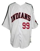 Rick Vaughn #99 Major League Movie Button Down Baseball Jersey White Any Size image 1