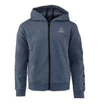 Reebok Girls Hoodie Logo Size 8 - 10 Active Full Zip Medieval Blue Pocke... - $16.39
