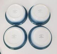 Nikko Gradiance Cereal Soup Bowl Lid Set of 4 Azure Leafette Dish Microwave Safe image 7