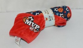 Baby Ganz BG3437 Sports Blanket 36 by 30 inches Birth and Up Red Blue image 2