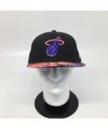 Miami Heat New Era 59FIFTY Hardwood Classics Black & Floral Fitted Hat C... - $27.10