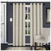 Waverly Ivory Embossed Wave Blackout Insulated Grommet Curtains 2 Panels - $37.57+