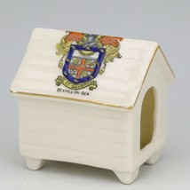 Miniature Arcadian Stoke on Trent Bexhill on Sea Crest Souviner Doghouse image 1