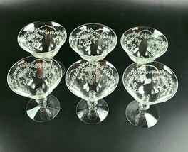 Vintage Corsage by Fostoria - Liquor Cocktail Glasses - Set of 6 - $54.00