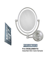 Zadro LEDOVLW410 LED Oval Wall Mounted Makeup Mirror with Free Bioelemen... - $129.99