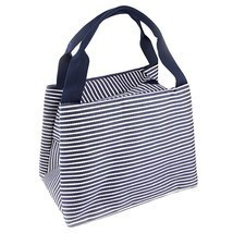 Stripe Lunch Box Carry Bag For Travel Picnic Bags Summer Picnic Items Lu... - $10.48 CAD