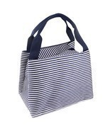 Stripe Lunch Box Carry Bag For Travel Picnic Bags Summer Picnic Items Lu... - £6.19 GBP