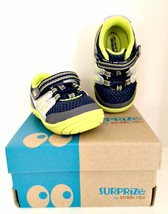 Aston Sneaker Surprize by Stride Rite Infant Toddler Boys Navy Lime Size 3  - $16.83