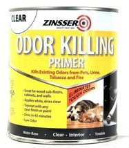 2 Can Zinsser 32oz 307648 Clear Odor Killing Primer Water Base Interior ... - $30.99