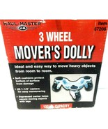 Haul Master Mover's Furniture Dolly, 3-wheel, 132 lb.cap.-NEW ! - $7.83