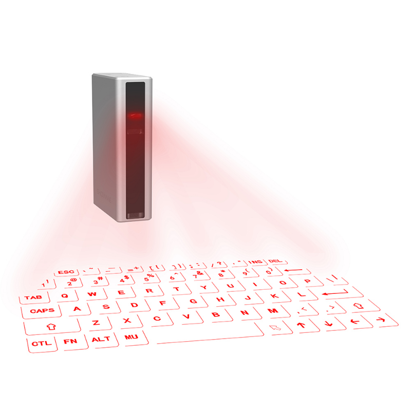 Virtual Keyboard, Wireless Laser Projection Keyboard with 5200 mAh Power Bank fo