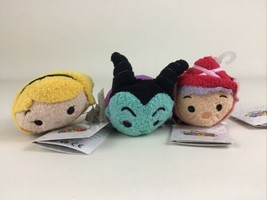 Disney Tsum Tsum Sleeping Beauty Plush Stuffed Toy Maleficent Aurora Flo... - $19.75