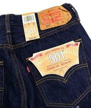 NEW NWT LEVI'S 501 MEN'S ORIGINAL FIT STRAIGHT LEG JEANS BUTTON FLY 501-0115 image 4
