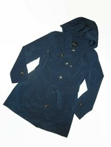 London Fog Dark Teal trench rain dress Coat w rem hood women's size Smal... - $109.35