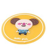 Set of 4 Lovely Animals Non-Slip Waterproof Silicone Round Table Coaster... - $14.31