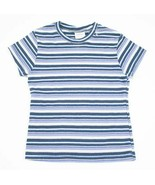 SIMPLY BASIC NEW GIRLS SIZE 7 8 SHIMMERY BLUE TOP STRIPED STRIPES SHORT ... - $8.11