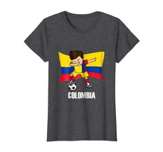 Sport Shirts - Dabbing Soccer Boy Colombia Jersey Tee - Colombia Football Wowen - $19.95+