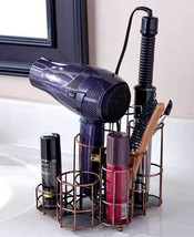 Bathroom Counter Organizer Hair Dryer Curling Iron Makeup Brushes Storag... - $25.90