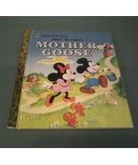 a Little Golden Book Walt Disney's Mother Goose  First Radom House Editi... - $4.46
