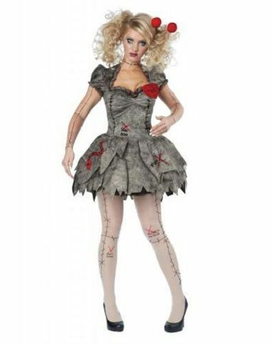 California Costumes Voodoo Rag Doll Adult Women Cosplay Halloween Costume 01585 image 3