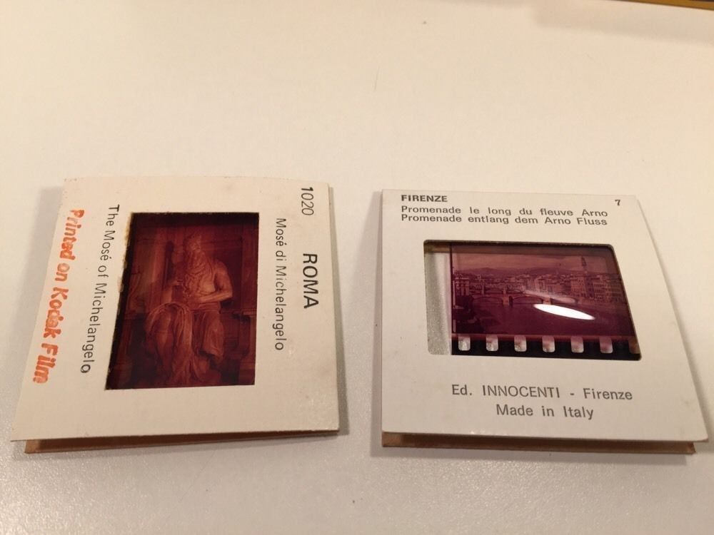 Vintage Souvenir Slide Sets From Europe - Italy - Austria - Germany