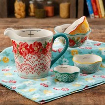 The Pioneer Woman 5-Piece Prep Set, Measuring Bowls & Cup,Vintage Rose - $35.29