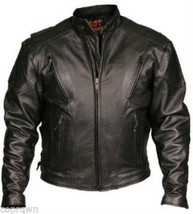 Hot Leathers Vented Medium Weight Motorcycle Jacket Black Size 40 NWT Sh... - $84.14