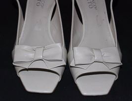 Franco Sarto Héritage Femmes Talons Chaussures en Cuir Beige Taille 6M image 4