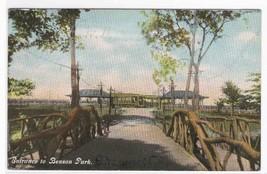 Entrance Benson Park Shawnee Oklahoma 1909 postcard - $4.46
