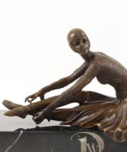 Antique Home Decor Bronze Sculpture shows Josephine Baker Style Icon, si... - $279.00