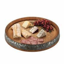 Farmhouse Serving Tray, Rustic Round Kitchen Lazy Susan Appetizer Table ... - $212.99