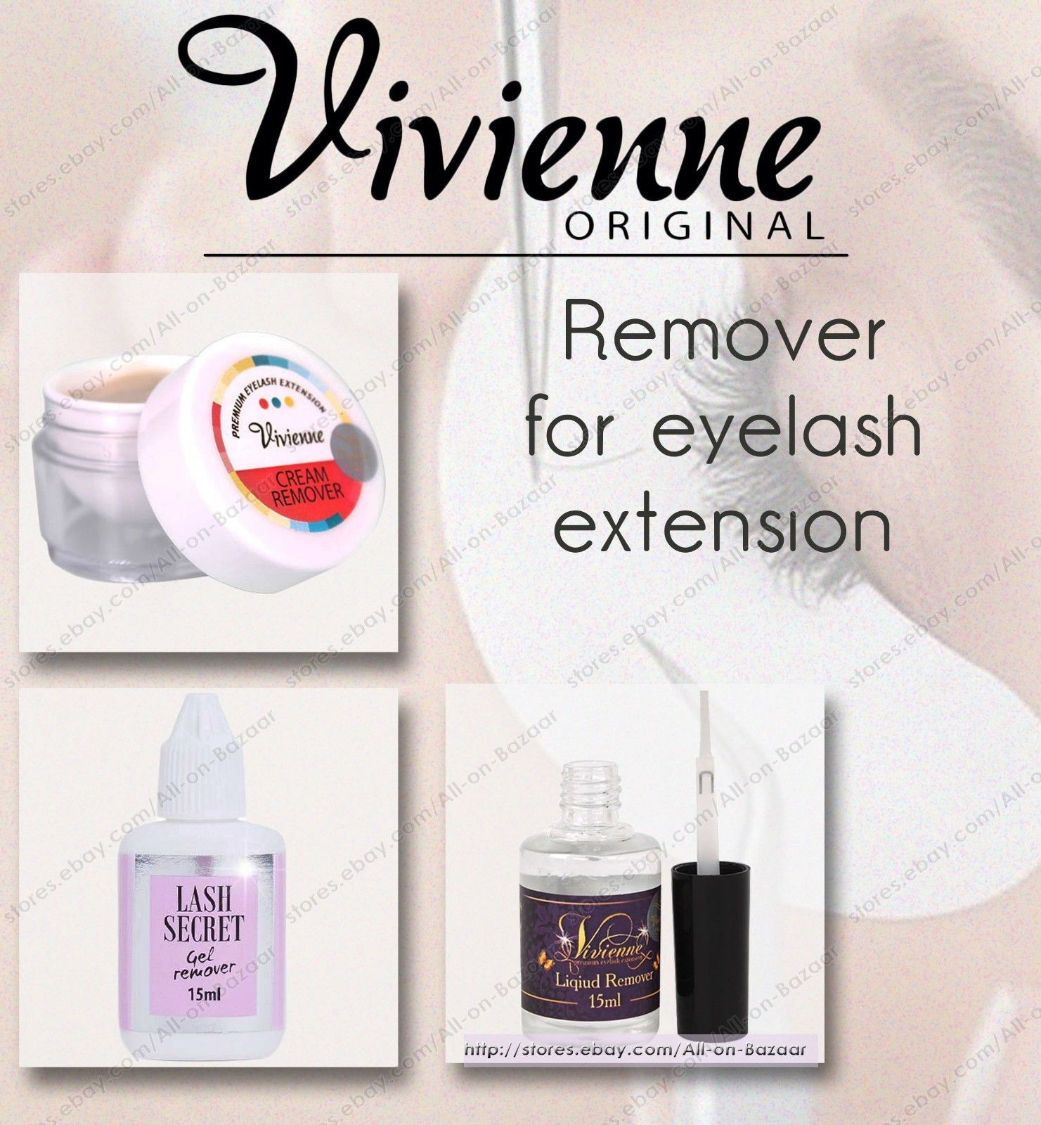 Primary image for NEW! Viviene  Liquid | Gel | Cream remover | for eyelash extension  removal lash