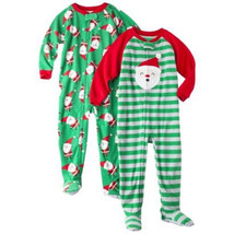 Just One You by Carter's Toddler Boys 2 PAIRS of Footed Pajamas Santa  NWT - $11.04