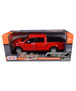2019 Ford F-150 Lariat Crew Cab Pickup Truck Red 1/24-1/27 Diecast Model... - $41.83