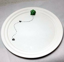"""Department 56 Round Ceramic Plate Topped With Green Frog 9.25"""" New - $26.90"""