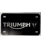 """Customized Motorcycle License Plate Diamond Etched on Alum. 7"""" X 4"""" Blk ... - $17.23"""