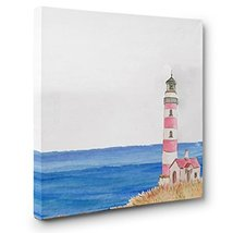 Summer Lighthouse CANVAS Wall Art Home Dcor - $17.33